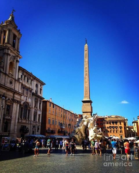 Photograph - Piazza Navona 2 by Angela Rath