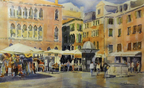 Painting - Piazza San Angelo by David Gilmore