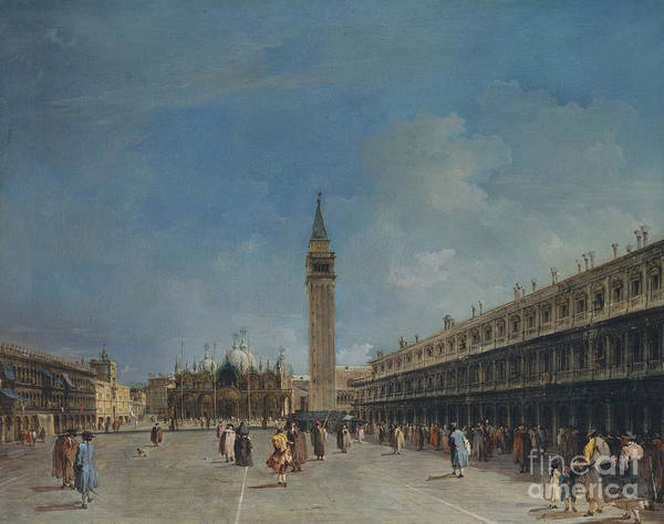 Wall Art - Painting - Piazza San Marco, 1760 by Francesco Guardi