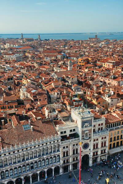 Photograph - Piazza San Marco Bell Tower View by Songquan Deng