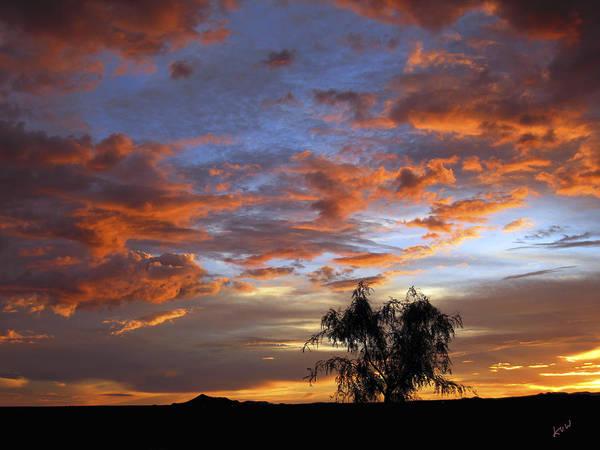 Photograph - Picacho Peak Sunset II by Kurt Van Wagner