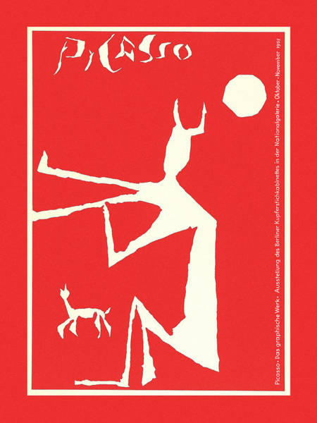 Photograph - Picasso Exhibition Poster 3 by Andrew Fare