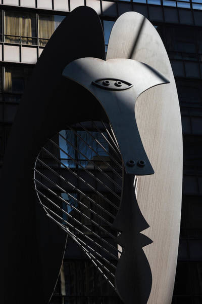 Wall Art - Photograph - Picasso Sculpture Chicago Morning by Steve Gadomski
