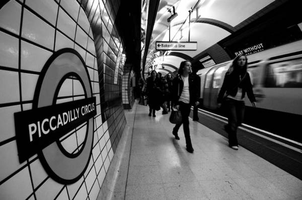 Wall Art - Photograph - Piccadilly Circus Underground Station by Liz Pinchen