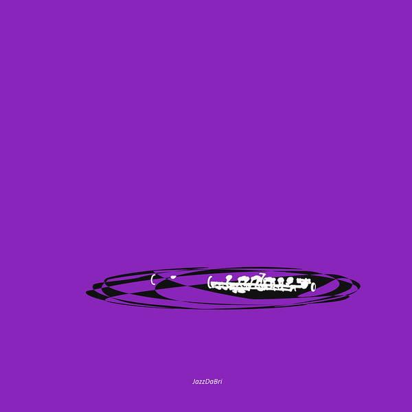 Digital Art - Piccolo In Purple by David Bridburg