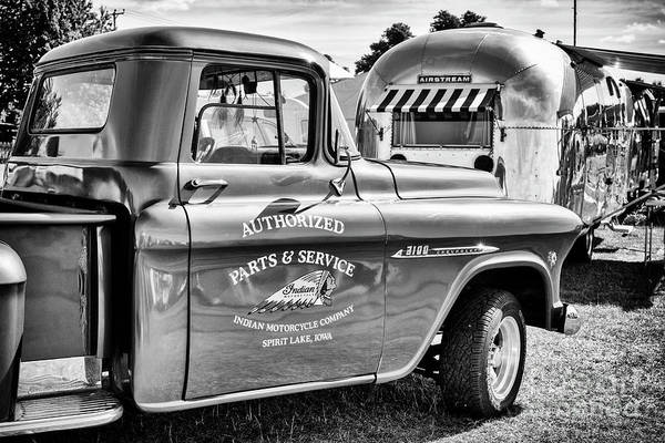 Wall Art - Photograph - Pick Up And Airstream by Tim Gainey