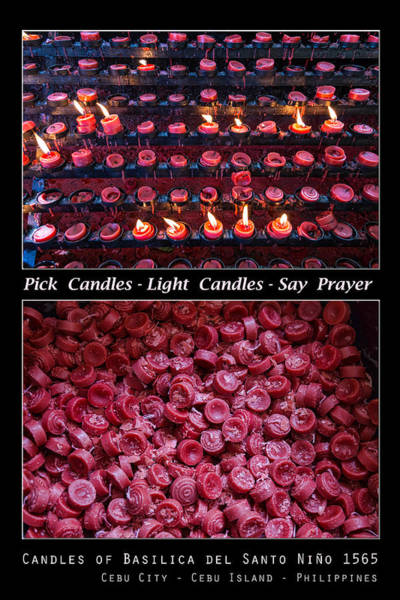 Photograph - Pick Your Candles - Light Your Candles - Say Your Prayer by James BO Insogna