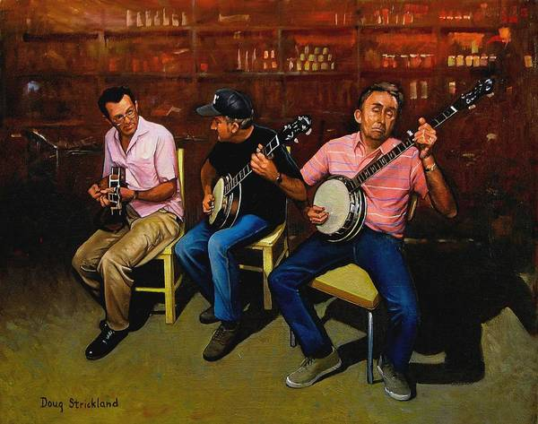 Wall Art - Painting - Pickers by Doug Strickland