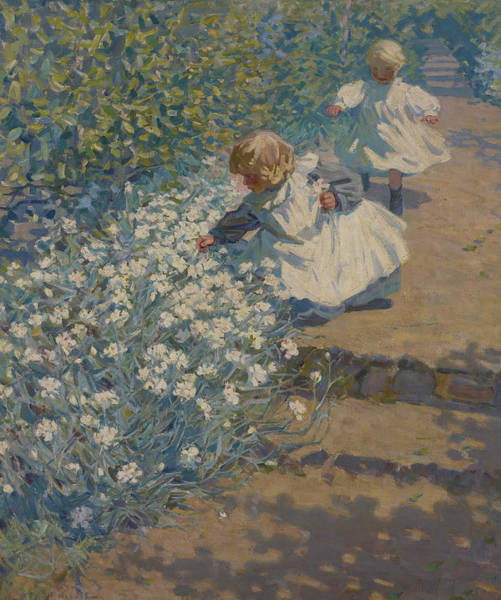 Painting - Picking Flowers by Helen McNicoll