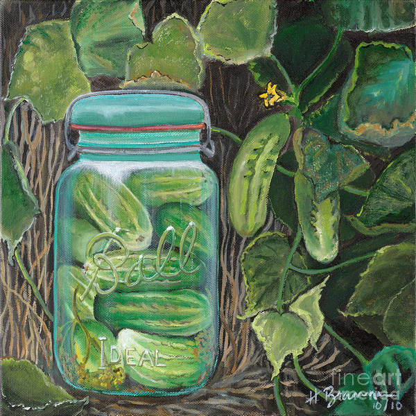 Holly Brannan Wall Art - Painting - Pickles by Holly Bartlett Brannan