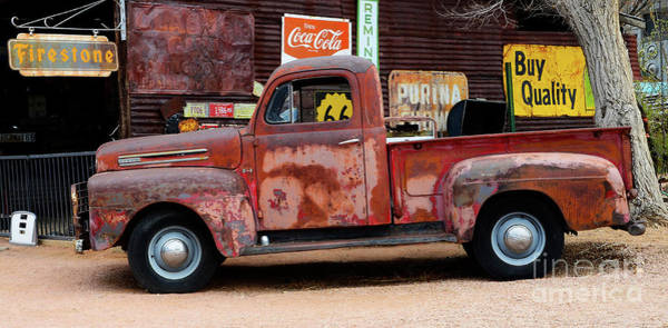 Wall Art - Photograph - Pickup At Hackberry Arizona by Bob Christopher