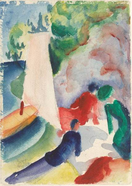 Painting - Picnic On The Beach by August Macke