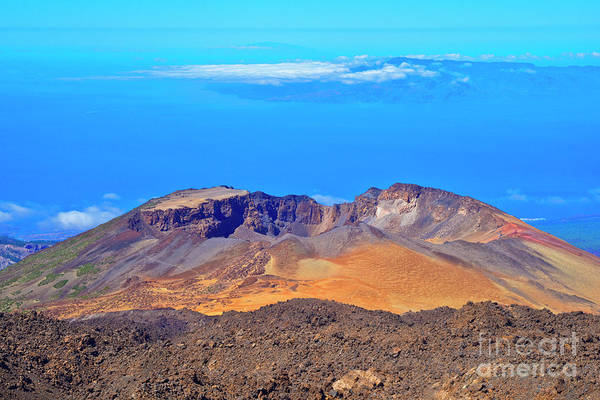 La Gomera Wall Art - Photograph - Pico Viejo Volcano And La Gomera Island by Jean-luc Bohin