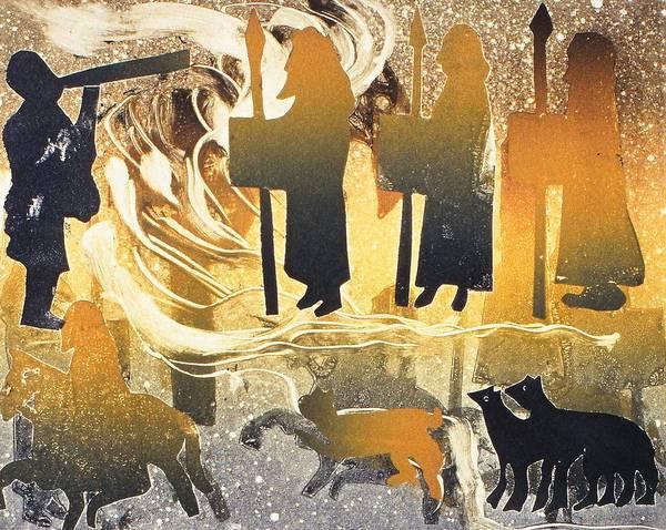 Three Kings Painting - Pictish Melody by Gloria Wallington