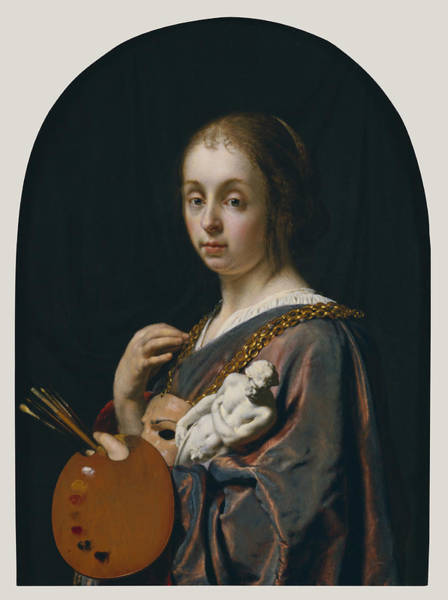 Painting - Pictura  by Frans Van Mieris The Elder