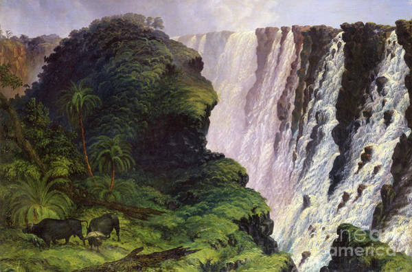 Victoria Falls Painting - Picture No. 10724840 by Mary Evans Picture Library