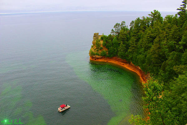 Lighthouse Wall Art - Photograph - Pictured Rocks Michigan by Michael Rucker