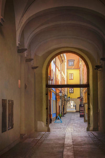 Wall Art - Photograph - Picturesque Alley In Wroclaw Old Town Poland by Carol Japp