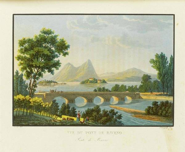 Gabriel Painting - Picturesque And History Table Of The Simplon Road From Geneva To Milan by Gabriel