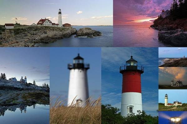 Photograph - Picturesque New England Lighthouses by Juergen Roth