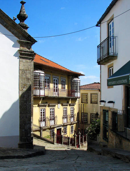 Galicia Photograph - Picuresque Old Town In Vigo Spain by Carla Parris