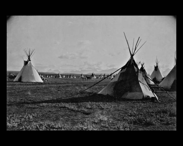 Photograph - Piegan Encampment by John Feiser