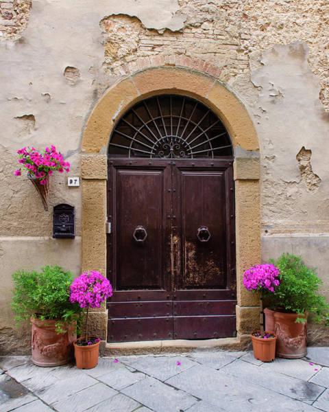 Photograph - Pienza Doorway - Vertical by Michael Blanchette