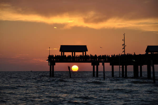 Photograph - Pier 60 Clearwater Beach - Watching The Sunset by Bill Cannon