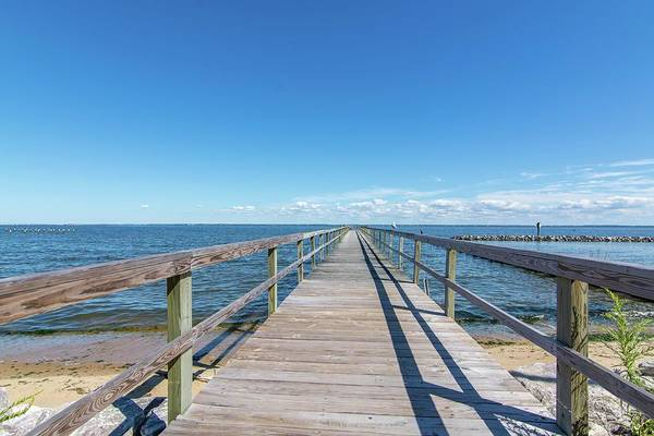 Pier At Highland Beach Art Print