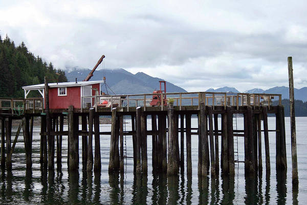 Photograph - Pier At Icy Strait Point by James Reed