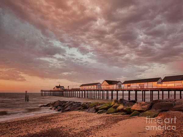 Wall Art - Photograph - Pier At Sunrise by Colin and Linda McKie