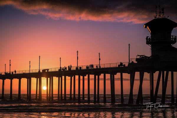 Photograph - Pier At Sunset by T A Davies