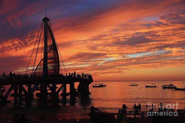 Photograph - Pier At Sunset by Teresa Zieba