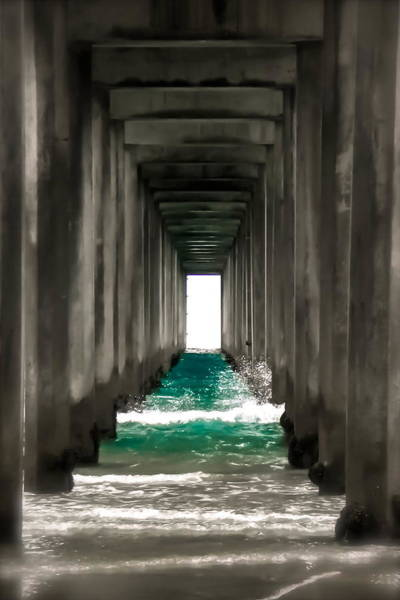 Scripps Pier Photograph - Pier Beneath by Peggy Bell