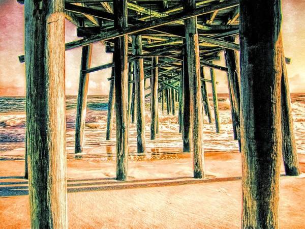 Flagler Photograph - Pier Crisscross by Alice Gipson