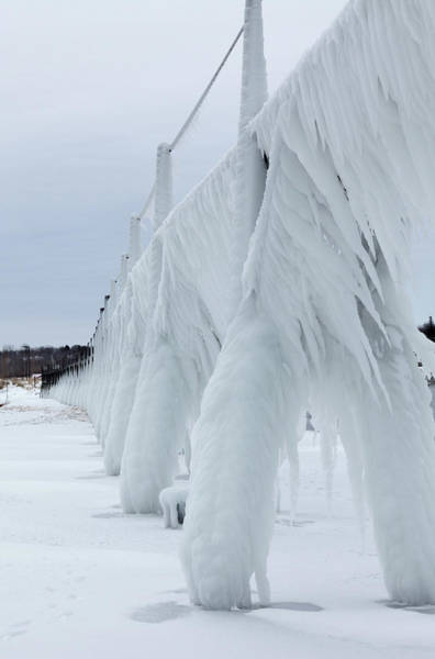 Photograph - Pier Ice by Fran Riley