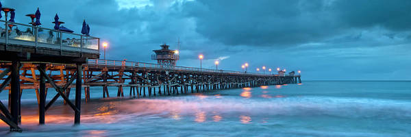 Clemente Photograph - Pier In Blue Panorama by Gary Zuercher