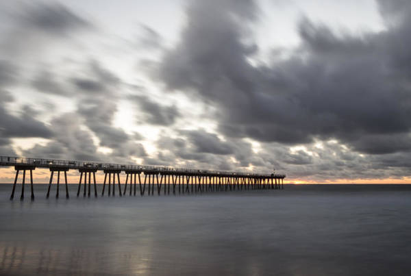 Photograph - Pier In Misty Waters by Ed Clark