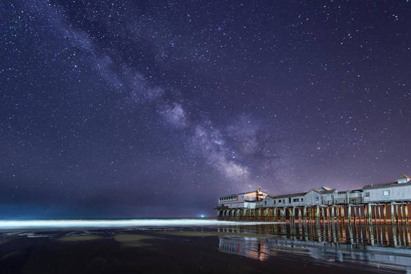 Photograph - Pier In The Stars by Michael Blanchette