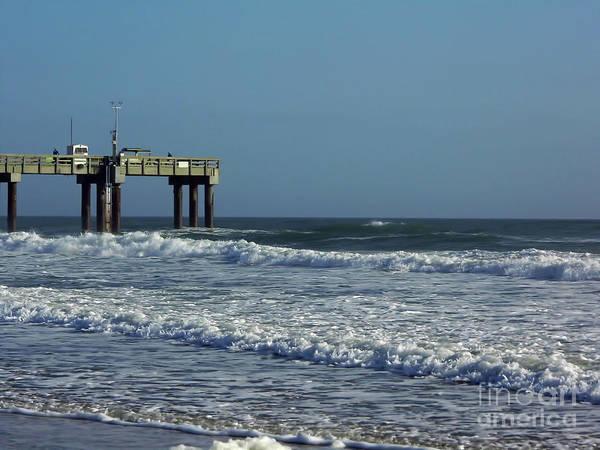 Photograph - Pier Into The Ocean by D Hackett