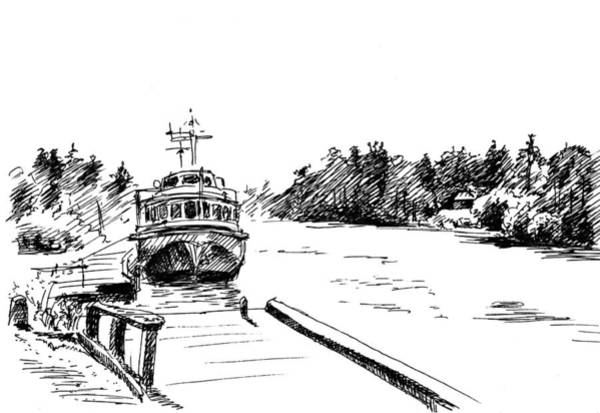 Trailer Drawing - Pier by Masha Batkova