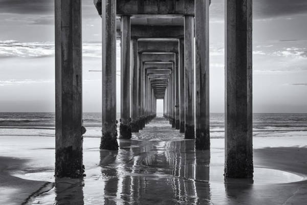 Scripps Pier Photograph - Dark And Beautiful by Joseph S Giacalone
