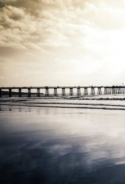 Photograph - Pier On Duotone by Michael Hope