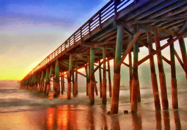 Flagler Photograph - Pier Oranges by Alice Gipson