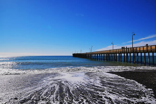 Painting - Pier Pier At Cayucos California  by Barbara Snyder
