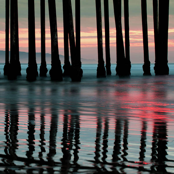 Photograph - Pier Reflections - Ocean Sunset - California  by Gregory Ballos