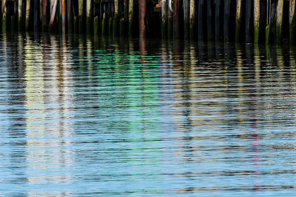 Photograph - Pier Reflections by Robert Potts