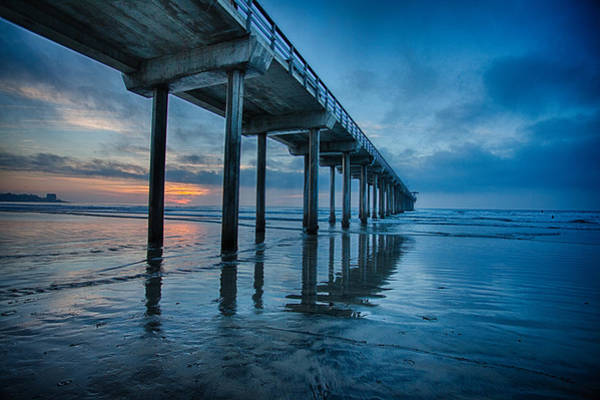 Scripps Pier Photograph - Pier To Nowhere by Chris Mitzlaff