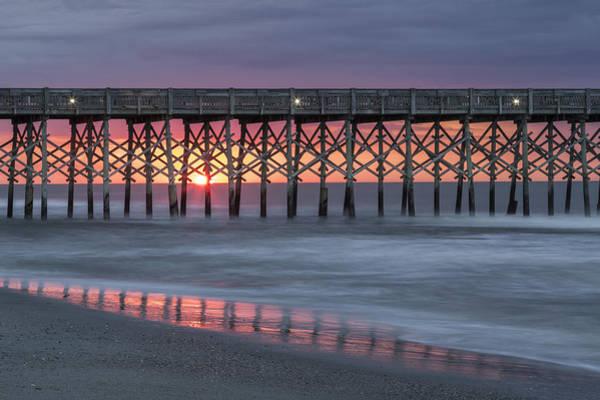 Photograph - Pier With Sunrise by Denise Bush