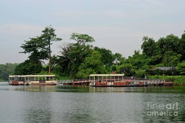 Photograph - Pier With Tourist Boats For River Safari Cruise Singapore by Imran Ahmed